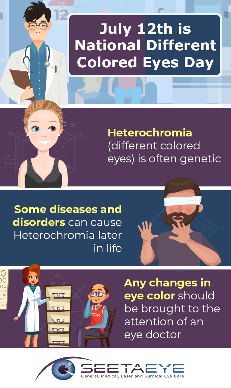 July 12th is National Different Colored Eyes Day Infographic