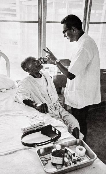 Dr. Modi offered eye surgery to men and women in Haiti suffering from poverty and disease.