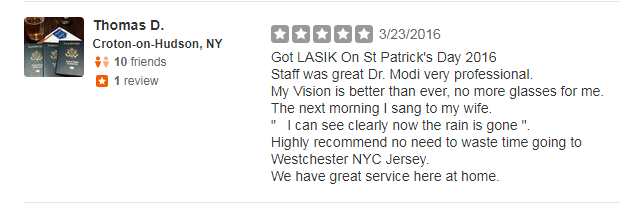 Lasik Surgery Review on Yelp for Seeta Eye Centers